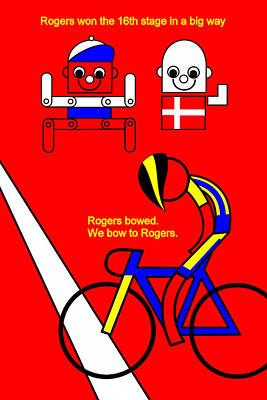 Digital Art - Tour De France 2014 Stage 16 by Asbjorn Lonvig