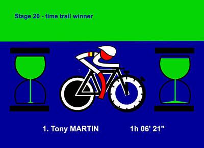 Digital Art - Tour De France 2014 Stage 20 by Asbjorn Lonvig
