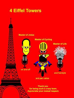Digital Art - Tour De France 2014 Stage 21 by Asbjorn Lonvig