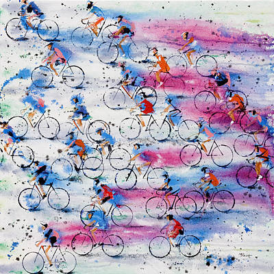 Red Painting - Giro D'italia by Neil McBride