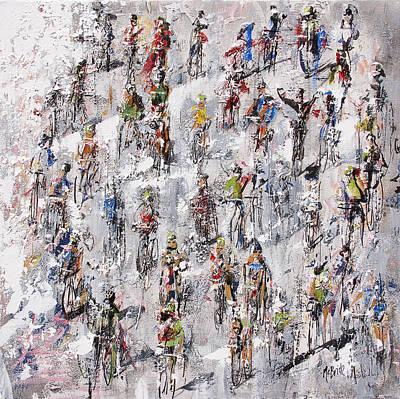 Wall Art - Painting - Tour De France Stage 2 by Neil McBride