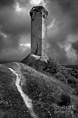 Tour De La Clauze Tower. Saugues. Haute-loire Department. Auvergne. France Art Print by Bernard Jaubert