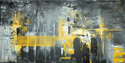 Contemporain Art Painting - Tourbillon Urbain by Brigitte Fournier