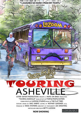 Digital Art - Touring Asheville by John Haldane