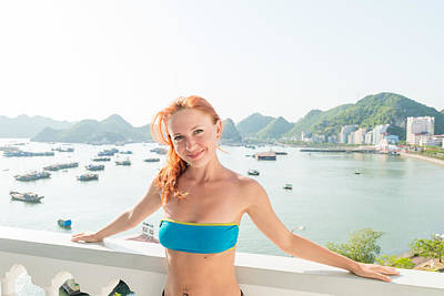On Trend At The Pool - Tourist at Halong cruise by Nikita Buida