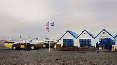 Photograph - Tourist Center At The Ice Lagoon In Iceland by Victoria Porter