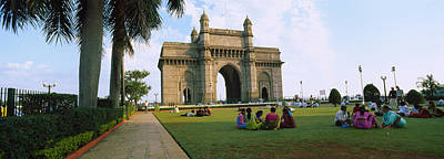 Mumbai Wall Art - Photograph - Tourist In Front Of A Monument, Gateway by Panoramic Images