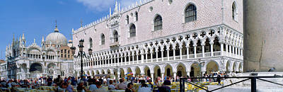 Doges Palace Photograph - Tourist Outside A Cathedral, St. Marks by Panoramic Images