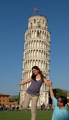 Photograph - Tourist Photo Pisa by Caroline Stella