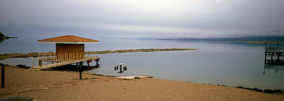 Kyrgyzstan Photograph - Tourist Resort On The Beach, Lake by Panoramic Images