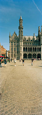 Belgium Photograph - Tourists At A Market, Bruges, West by Panoramic Images