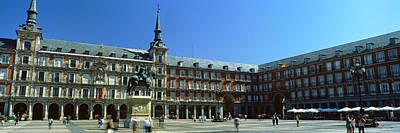 Tourists At A Palace, Plaza Mayor Art Print