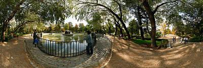 Public Park Photograph - Tourists At A Public Park, Buen Retiro by Panoramic Images
