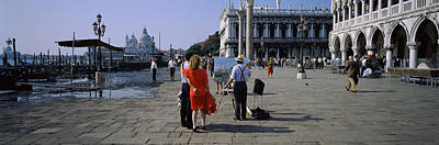 Tourists At A Town Square, St. Marks Art Print