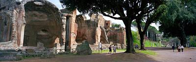 Ancient Civilization Photograph - Tourists At A Villa, Hadrians Villa by Panoramic Images