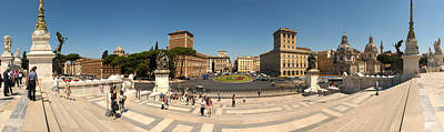 Tourists At Town Square, Palazzo Art Print by Panoramic Images