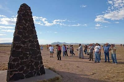 Tourists At Trinity Test Site Print by Peter Menzel