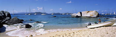 Enjoyment Photograph - Tourists Enjoying On The Beach, The by Panoramic Images