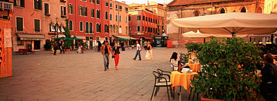 Tourists In A City, Venice, Italy Art Print by Panoramic Images