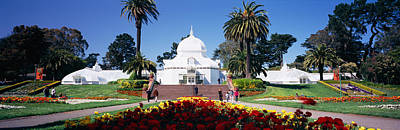 Conservatory Of Flowers Photograph - Tourists In A Formal Garden by Panoramic Images