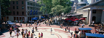 Marketplace Photograph - Tourists In A Market, Faneuil Hall by Panoramic Images