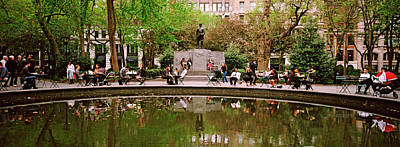 Enjoyment Photograph - Tourists In A Park, Madison Square by Panoramic Images