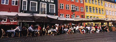 In A Row Photograph - Tourists In A Road Side Restaurant by Panoramic Images