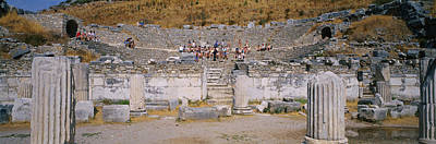 Ancient Civilization Photograph - Tourists In A Temple, Temple Of by Panoramic Images