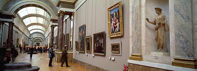 Tourists In An Art Museum, Musee Du Art Print
