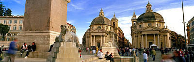 Tourists In Front Of Churches, Santa Art Print by Panoramic Images