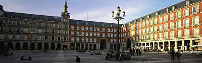 Tourists In The Courtyard Art Print by Panoramic Images