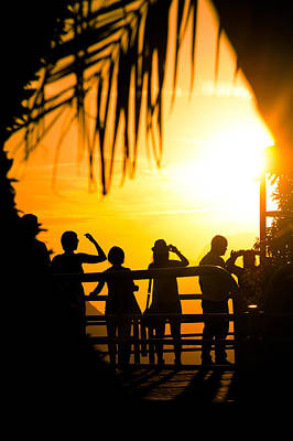 Photograph - Tourists In Tropical Sunset by Celso Diniz