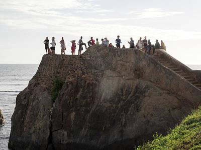 Tourists On Flag Rock Bastion, Part Art Print