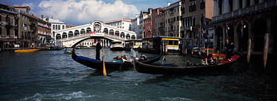 Tourists On Gondolas, Grand Canal Art Print by Panoramic Images