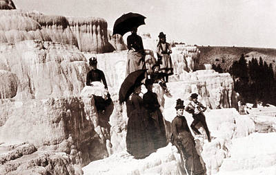 Photograph - Tourists On Mammoth Terraces by NPS Photo