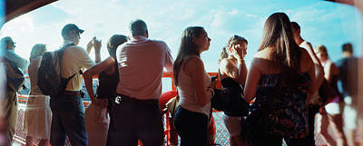 Tourists On Staten Island Ferry, Staten Art Print by Panoramic Images