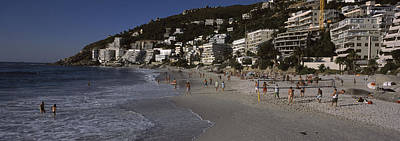 Enjoyment Photograph - Tourists On The Beach, Clifton Beach by Panoramic Images