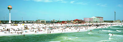Pensacola Photograph - Tourists On The Beach, Pensacola by Panoramic Images