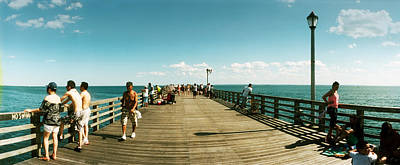 Enjoyment Photograph - Tourists On The Coney Island Pier by Panoramic Images