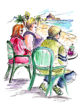 Painting - Tourists On The Costa Blanca In Spain by Miki De Goodaboom