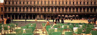 Tourists Outside Of A Building, Venice Art Print by Panoramic Images