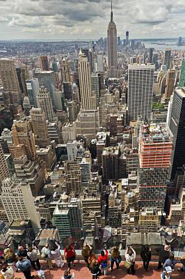 Photograph - Tourists Viewing Downtown Manhattan by Gary Eason