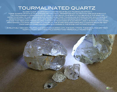 Digital Art - Tourmalinated Quartz by Justin Hiatt