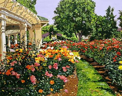 Pathways Painting - Tournament Of Roses II by David Lloyd Glover