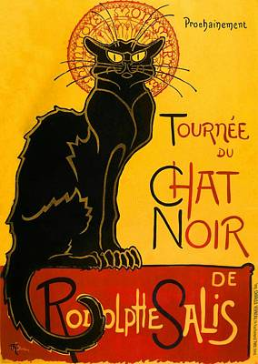 Animals Paintings - Tournee Du Chat Noir by Theophile Steinlen
