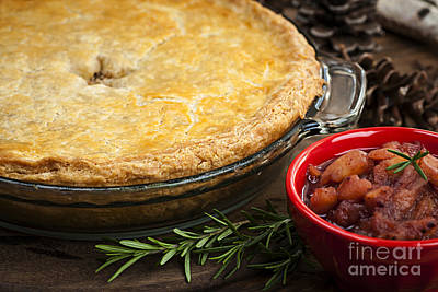 Tourtiere Meat Pie Print by Elena Elisseeva