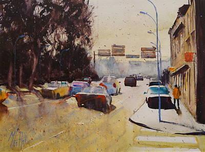 Toward St Christophe Bridge Art Print by Andre MEHU