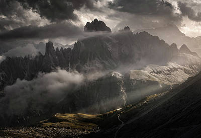 Tre Photograph - Toward The Black Gate by Enrico Fossati