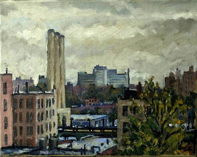Central Indian Art Painting - Toward The Bronx Overcast by Thor Wickstrom
