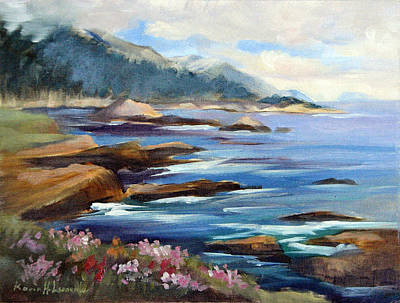Point Lobos Painting - Towards China Cove Pt. Lobos by Karin  Leonard
